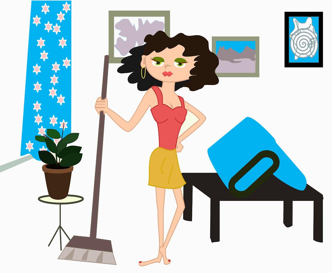 Картинка мама убирает квартиру для детей